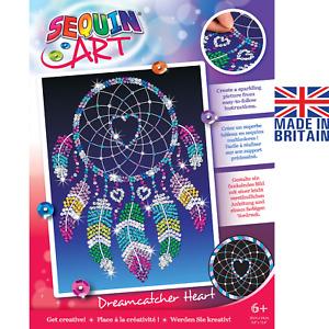 Sequin Art 1620 Dreamcatcher Heart DIY Craft Kit From The Red Range