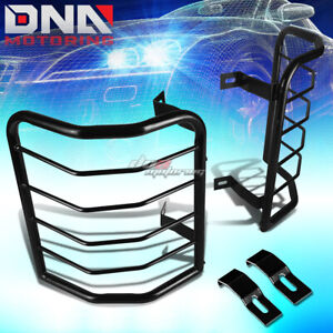 FOR 08-13 JEEP LIBERTY BLACK COATED STEEL TAIL LIGHT/LAMP CAGE GUARD+MOUNTING