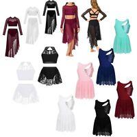 Toddler Girls Gymnastics Unitard Dress Ballet Dance Top+Skirt Dancewear Costumes