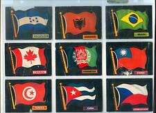 1970 70 TOPPS FLAGS NEAR COMPLETE SET  50/77 PRINTED IN CANADA