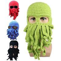 Octopus Winter Warm Knitted Wool Ski Mask Knit Hat Squid Cap Beanie Men Women