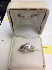 A. CANDELA DESIGNED 18KT YELLOW GOLD & SS (925) & 0.30 GENUINE DIAMOND RING