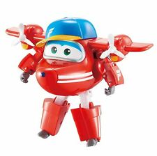 Super Wings Transforming Classic Jet Transform Plane To Bot Toy +3