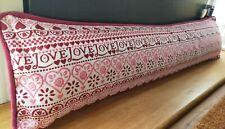Emma Bridgewater Pink Sampler Love Fabric Draught Excluder Cover Piped