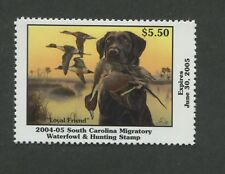 SOUTH CAROLINA #24 2004 STATE DUCK STAMP PINTAIL/BLACK LAB by Eddie LeRoy