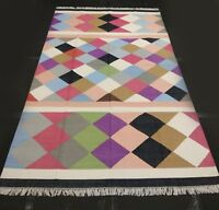 Cottage Patchwork Cotton Area Reversible Rug Free Shipping Living Room 5x8 Ft