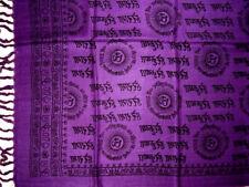 Hey Ram Om Neck Scarf Shawl Buddhism 32 x 76  Purple