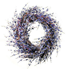 Faux Dried Lavender Floral Door Wreath