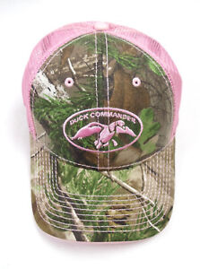 Duck Commander Camo with Pink Mesh Womens Hat Duck Dynasty