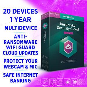 Kaspersky Security Cloud (Family) 20 Geräte 1 Jahr MULTIDEVICE VOLLVERSION