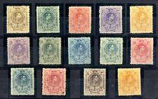 SELLOS DE ESPAÑA 1909-1922 Nº 267/280 Alfonso XIII sellos con charnela