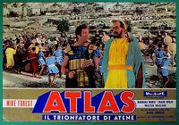 T48 Fotobusta Atlas El Trionfatore Por Atenas Mike Forest Roger Corman Moris