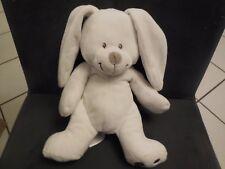 284/ doudou poupée lapin blanc nez beige gris SIMBA TOYS KIABI 25 cm