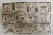 (266) Peanuts by Charles Schulz Dailies from 1-12,1973 Size: 1.5 x 7 inches