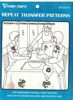 215 Vogart Embroidery Hot Iron Transfer Kitchen Clothing Dining Room Designs oop