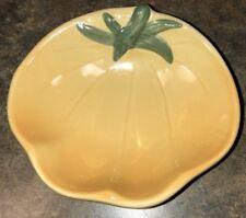 """William Sonoma Ceramic Tomato Dip Bowl Yellow 5 1/8 x 4.5"""""""