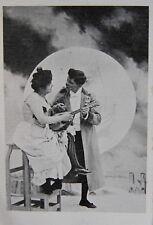 Romantic Couple Playing Mandolin 1900's music unused postcard Lagriffe Paris