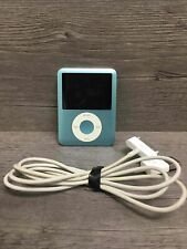 Apple iPod Nano 3rd Gen A1236 Teal 8Gb Mp3 Player