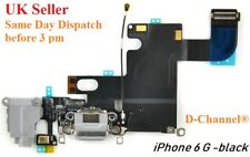 """For iPhone 6 4.7"""" Charging Port Charger Flex Headphone Jack Replacement Black"""