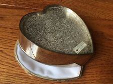 International Silver Company heart shaped silver plated trinket jewelry box