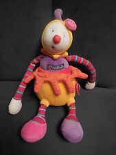 doudou peluche clown Dragobert jaune orange MOULIN ROTY 24cm