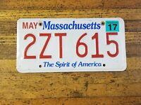 Vintage LICENSE PLATE Massachusetts Car Tags 2ZT 615 RETRO Plates MAN Cave Wall