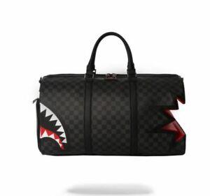 SPRAYGROUND SHARK BITE SHARKS IN PARIS GRAY/BLACK DUFFLE BAG **LIMITED**