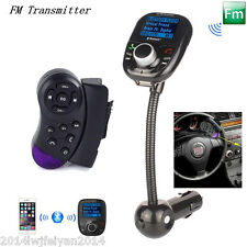 Car Steering Wheel Control+Bluetooth MP3 Player FM Transmitter Radio +Remote Kit