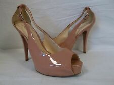 Guess Size 8.5 Hondo Pale Pink Open Toe Heels New Womens Shoes NWOB