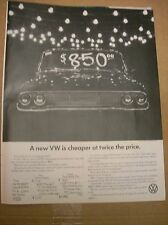 Original 1966 Volkswagen Magazine Ad - A New VW Is Cheaper At Twice The Price