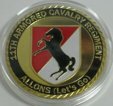US ARMY 11TH ARMORED CAVALRY REGIMENT ALLONS MILITARY CHALLENGE COIN