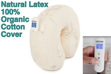 PEMF Therapy Travel Pillow Natural Latex + Organic Cotton Cover Unique Product!