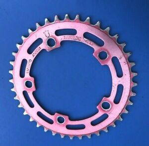 SUGINO RED ANODISED CHAINRING,40T,110MM BCD,OLD SCHOOL BMX