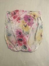 Vintage Bali Nylon Panties White With Flowers Size 5 (F)
