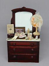 Bespaq Platinum Victorian Dresser with Accessories Dollhouse Miniature 1:12