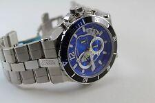 Renato Men's Wildebeast Grand Diver Watch, ETA G10.211 Mvt., SS Blue CF Dial