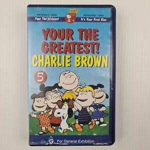 Charlie Brown - Your The Greatest! Volume 5 - VHS Tape - TRACKED POSTAGE