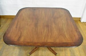 Antique style pedestal ADJUSTABLE HEIGHT dining table - coffee table