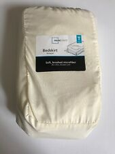 Mainstays Soft Microfiber Bedskirt Fresh Ivory Twin in a Bag