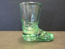S3 ANTIQUE EAPG GLASS POTTERY GLASSWARE PATTERNED COLORED TOOTHPICK BOOT SHAPED