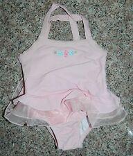 CARTERS girls Pink 1-pc Ruffled SEAHORSE Swim Bathing SUIT* 24 months