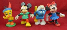 VINTAGE GERMAN Bully PVC FIGURE / TOY SET of 4 pcs Walt Disney Tweety Mickey etc