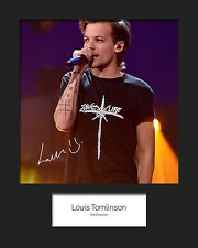 LOUIS TOMLINSON (ONE DIRECTION) #1 10x8 SIGNED Mounted Photo Print - FREE DEL