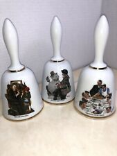 Norman Rockwell Large 7� Bells 1975-1976 Set Of 3