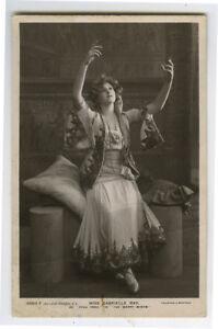 c 1907 British Edwardian Theater Theatre GABRIELLE RAY actress photo postcard