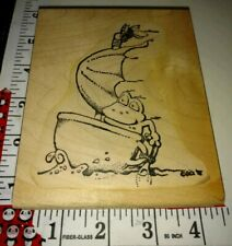 Famous frog cartoon, sailboat, Bez 98, big,209, wooden,rubber,stamp