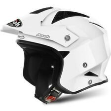 TRRS14 CASCO AIROH TRR-S COLOR WHITE GLOSS L TRIAL / ROAD / URBAN JET