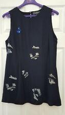 Salvatore Ferragamo Dark blue sleeveless blouse shirt Size 46
