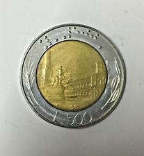 10104e7340 ITALIA REPUBBLICA 500 LIRE 1987 BIMETALLICO MONETA DA COLLEZIONE BB RARA