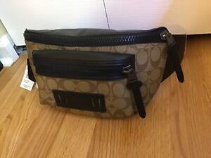 NWT Coach Mens Terrain Belt Fanny Crossbody Bag Signature MSRP $298